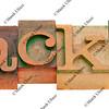 hacker word in letterpress type