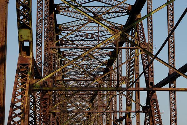 old iron bridge abstract
