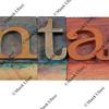 fantasy - word in printing blocks