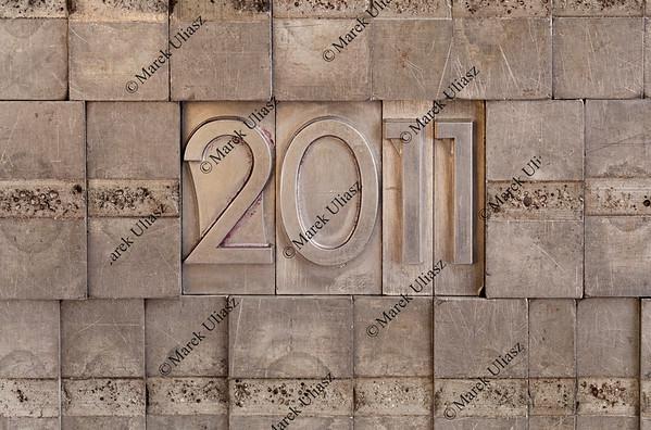 2011 - metal printing blocks background