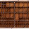 vintage wooden typesetter case