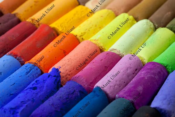 pastel crayons abstract