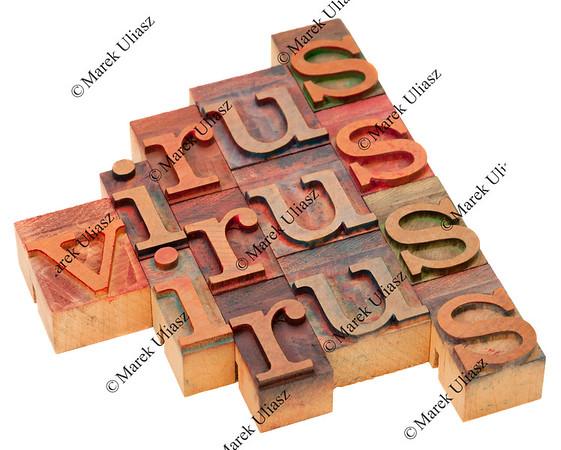 virus word abstract