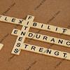 endurance, flexibility, strength  - fitness concept