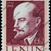 Lenin on a vintage post stamp