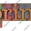 print in wooden letterpress type