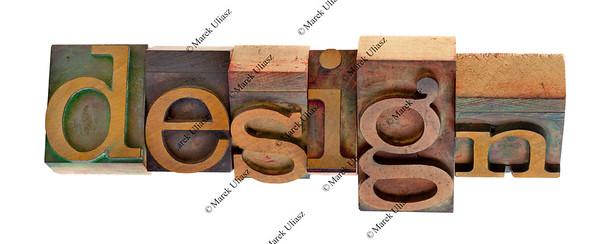 design - twisted printing blocks