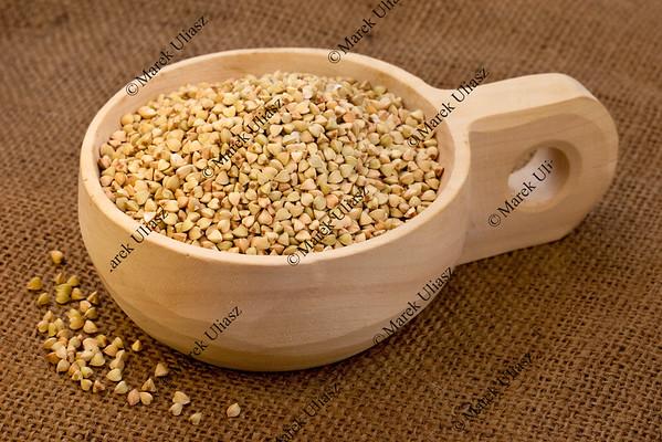 scoop of buckwheat groats