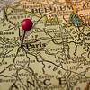 Paris and France vintage map