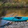 blue whitewater kayak