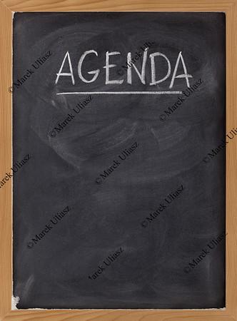 agenda - blank blackboard sign