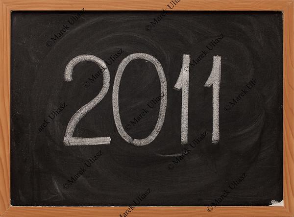 2011 - white chalk on blackboard