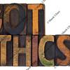 Got ethics?  Vintage wood type.