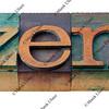 zen - letterpress type