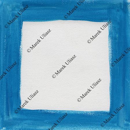 blue frame on white canvas