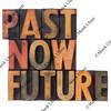 past, now, future - time concept