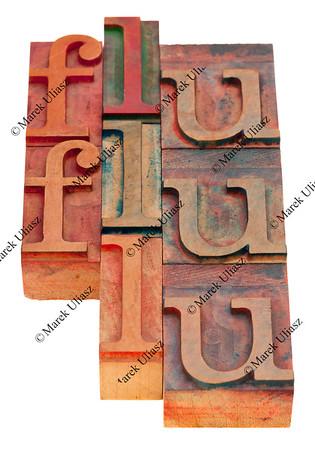 flu word abstract