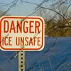 danger ice unsafe sign