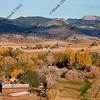 Colorado mountain village and farmland