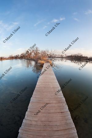 pathway through water