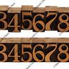 wood numbers - vintage letterpress blocks