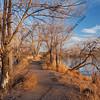 nature trail across lake area