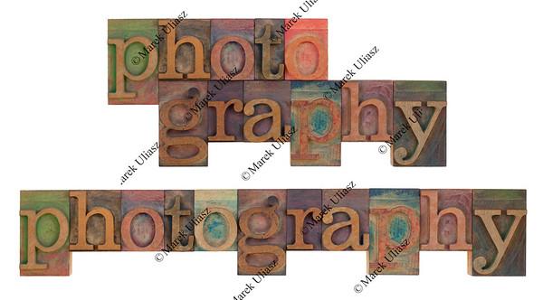 photography in vintage leeterpress