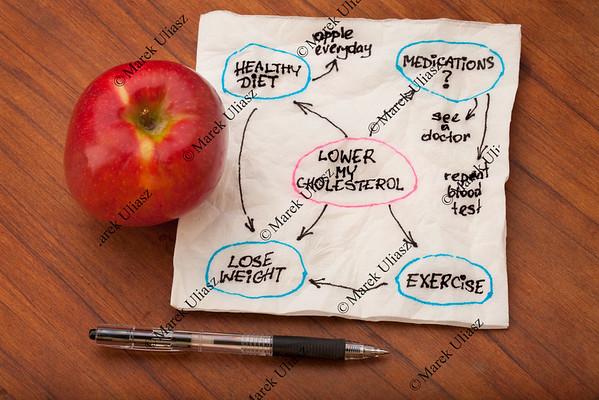 lower cholesterol mind map