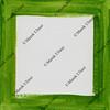 green frame on white canvas