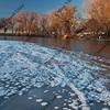 winter on South Platte River near Greeley, Colorado