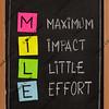 Maximum impact, little effort