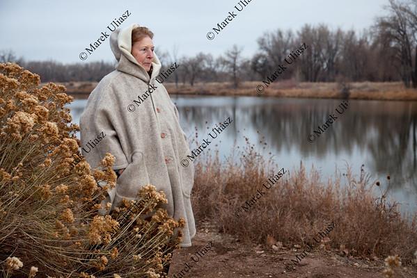 senior woman enjoys a walk outdoors