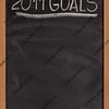 2011 goals title on blackboard