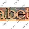 diabetes - word in letterpress type