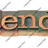 calendar - word in letterpress type