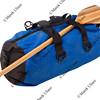 canoe paddle and waterproof duffel