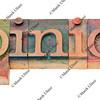 opinion - letterpress type