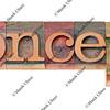 concept word in letterpress type