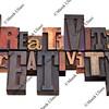 creativity word abstract