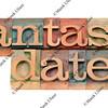 fantasy date in letterpress type