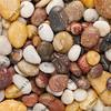 wet river pebbles