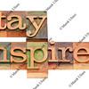 stay inspired in letterpress type