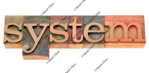system in wood letterpress type