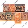 overweight word in letterpress type