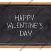 happy valentine day on blackboard