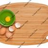 eggs on bamboo board