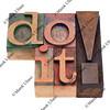 do it in letterpress type
