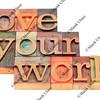 love your work in letterpress type