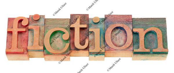 fiction in wood letterpress type