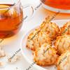tea and coconut macaroons